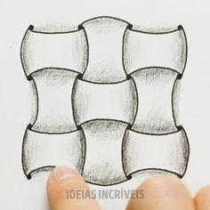 Relaxe desenhando Plastic Bottle Art, Black And White Wall Art, Op Art, Art And Architecture, Zentangle, Illusions, Fantasy Art, Qoutes, Origami