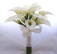 Natural Touch Bouquet ivory/White Calla Lilies