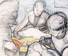 Sewing (study) Edouard Vuillard - 1890
