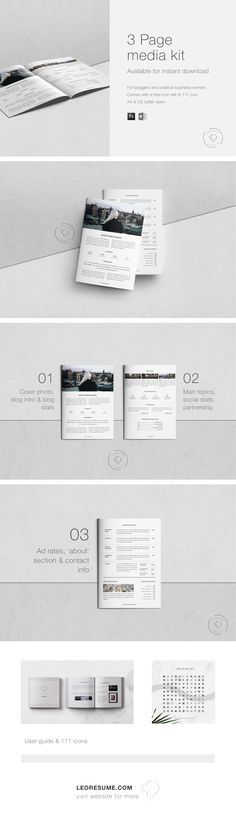 Items similar to Media Kit Template for MS Word and Photoshop Graphic Design Layouts, Brochure Design, Web Design, Logo Design, Media Kit Template, Marketing Resume, Microsoft Word 2007, Branding Kit, Press Kit