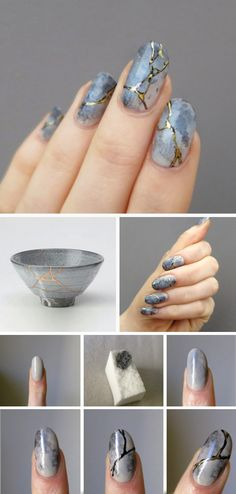 Kintsugi nails