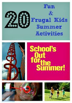 20 fun and frugal kids summer activities