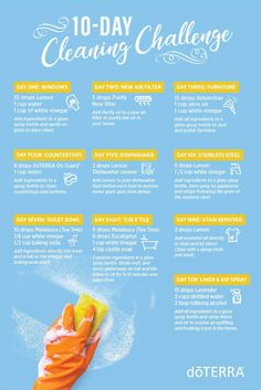 Get your clean on by starting this easy 10-Day Cleaning Challenge with one simple cleaning step each day.