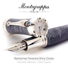 The Montegrappa Bartolomeo Ferracina celluloid pens are produced in series of only 100 pieces in three colors, this one is called Shiny Circles. #montegrappa #montegrappapen #timepiece #watches #bartolomeo #ferracina #fountainpen #limitededition #100pieces #horloge #denhaag #passagethehague