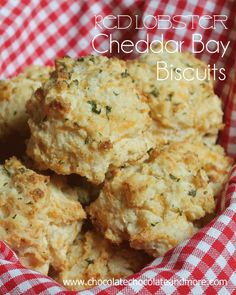 Copy Cat Red Lobster Cheddar Bay Biscuits, even better than the restaurant...  I could be a very happy girl with just a bowl of soup and a basket of these!