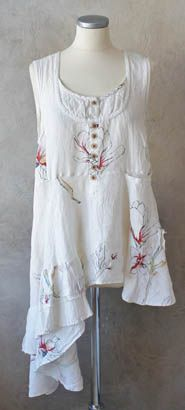Could be made from vintage tablecloths, pillow cases and other linens.  one layer for my heroine.  KOLLEKTION - Östebro