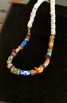 African Beaded Necklace   by  The  Joy  Moos  Collection,