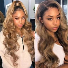 Hair Extensions & Wigs Humor #27 Honey Blonde Bundles With Lace Frontal Closure Supernova Remy Hair 4 Pcs Lots Lustrous Surface