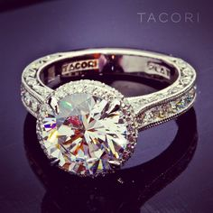 I've pinned this ring before, but this is another angle. LOVE IT. Style 2620, Tacori!