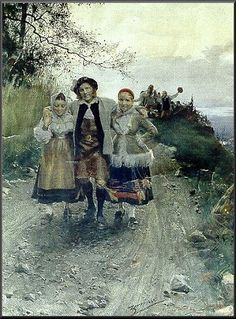 Lucky with the ladies - Anders Zorn