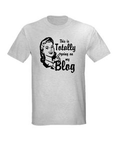 Take a look at this Ash Gray Vintage 'Going on My Blog' Tee by CafePress on #zulily today!