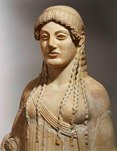 Koré de Eutidyco (h. 490a.C). Museo de la Acrópolis de Atenas. Arte griego.