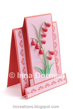 Quilled card with bell-flowers