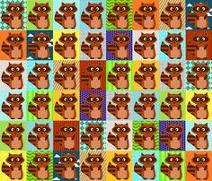 Rascal Raccoon fabric by petunias on Spoonflower - custom fabric