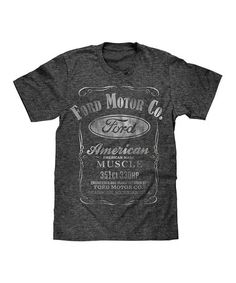 Loving this Black & Snow Heather Ford 'American Muscle' Tee - Men's Regular on #zulily! #zulilyfinds