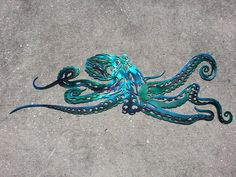 Octopus wall art by APFabrication on Etsy