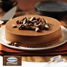 Baking Tips for our NEW PHILADELPHIA Chocolate Brick Cream Cheese: Chocolate Almond Cheesecake