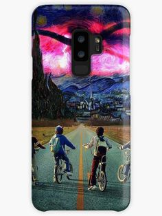 Starry Things Cases & Skins for Samsung Galaxy Stranger Things Merchandise, Galaxy Design, Style Snaps, Samsung Galaxy S9, Protective Cases, Iphone Cases, Shirt, Dress Shirt, Iphone Case