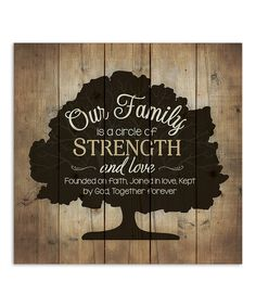 Loving this 'Our Family' Wood Wall Sign on #zulily! #zulilyfinds