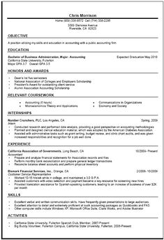 general resume writing