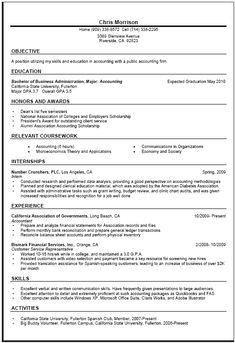 general resume writing