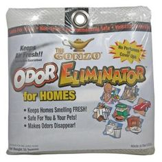 "Odor Eliminator available at Home Depot for about $5 each bag....covers 4000 sf and is regenerated by placing in the sun. Bought for my daughter's apt that had a ""old house"" smell...GONE!"