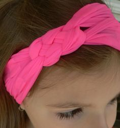 Hot Pink-knotted headband buff!  One size fits all!  Great for keeping flyaway hairs out of the face!