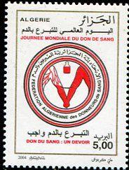 Francobolli - Donazione e trasfusione di sangue - Blood donation and transfusion Algeria 2004