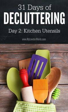 Are you sick of living in a house full of clutter? Join the 31 Days of Decluttering and take small steps that will add up to make a BIG difference!