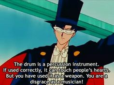 Thanks Tuxedo Mask! Most long winded insults ever... Sailor Moon Memes.