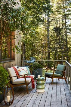 Outdoor Furniture Small Space, Outdoor Spaces, Outdoor Living, Outdoor Decor, Small Space Solutions, Pottery Barn Teen, Small Garden Design, Small Patio, Eco Friendly