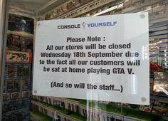 funny sign for GTA V  rpg,fps game updates- https://www.facebook.com/gamemela #gamemela