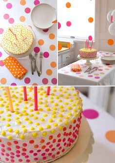 Polka Dot Cake | Oh Happy Day! (Finally found the PERFECT graduation day celebration cake - thanks #ohhappyday!)