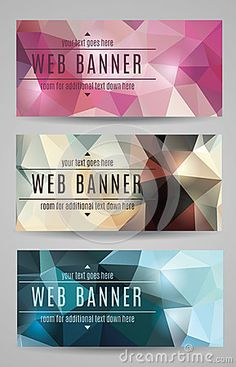 Modern Vector Abstract Polygonal Web Banners - Download From Over 24 Million High Quality Stock Photos, Images, Vectors. Sign up for FREE today. Image: 41106831