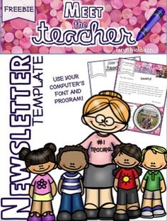 Free Newsletter Template - Meet the Teacher/Back to School ~ Perfectly Imperfect in Second Grade