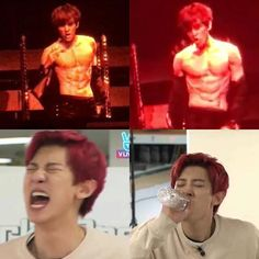 IM FINE BAEKHYUN YES IM SO FINE!!! HE FINALLY SHOWED HIS ABS!  - Admin Tin…