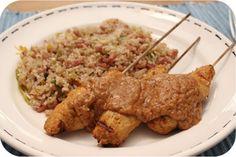Nasi Keboeli met Saté Ajam en Japanse Komkommersalade