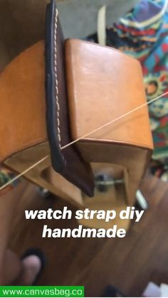 Leather Working Tools, Leather Craft Tools, Bag Patterns To Sew, Fashion Watches, Watches For Men, Crafty, Diy, Handmade, Gifts