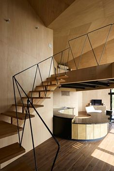 Villa Escargot by Takeshi Hirobe Architecture | #stairs