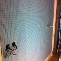 Mosaik Blue är nu på väggen...