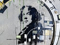 Oscar Wilde stencil. Another kind of picture here: http://www.penguinenglishlibrary.com/#!the-picture-of-dorian-gray