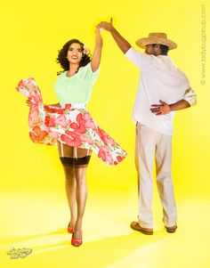 Dominican Pin Up. Dancing Merengue.