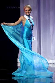398f3dc8fa6 Cassy Trickett 2016 Miss Teen USA Blue Pageant Dress