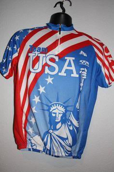 242cfbfe1 Bike wear Team USA bicycle jersey Size M  bikewear Bike Wear