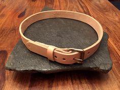 Leather Belt  Vegetable Tanned 12oz full grain leather
