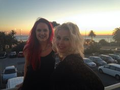 October 18, 2013: Wilde girls at sunset @PalaisTheatre @Scarlett Wilde Melbourne. Are ya ready for us?@NikKershaw just on stage: )