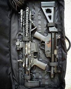 "Two pistols in a tiny 30"" case..packin' quite a bit of firepower . . . @pewrious #ar15#mp5#pistol#223#9mm #guns #igmilitia #gunporn #guns #weapons #firearms #tactical #badass #edc #tacticalbadass..."
