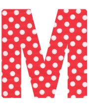 Red Polka Dot Letter M