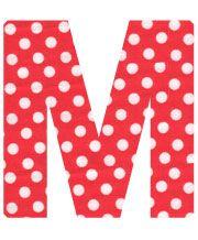 Red Polka Dot Letter M