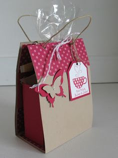 stampin with beemybear: Unser zweites Projekt - gift bag for tea bags